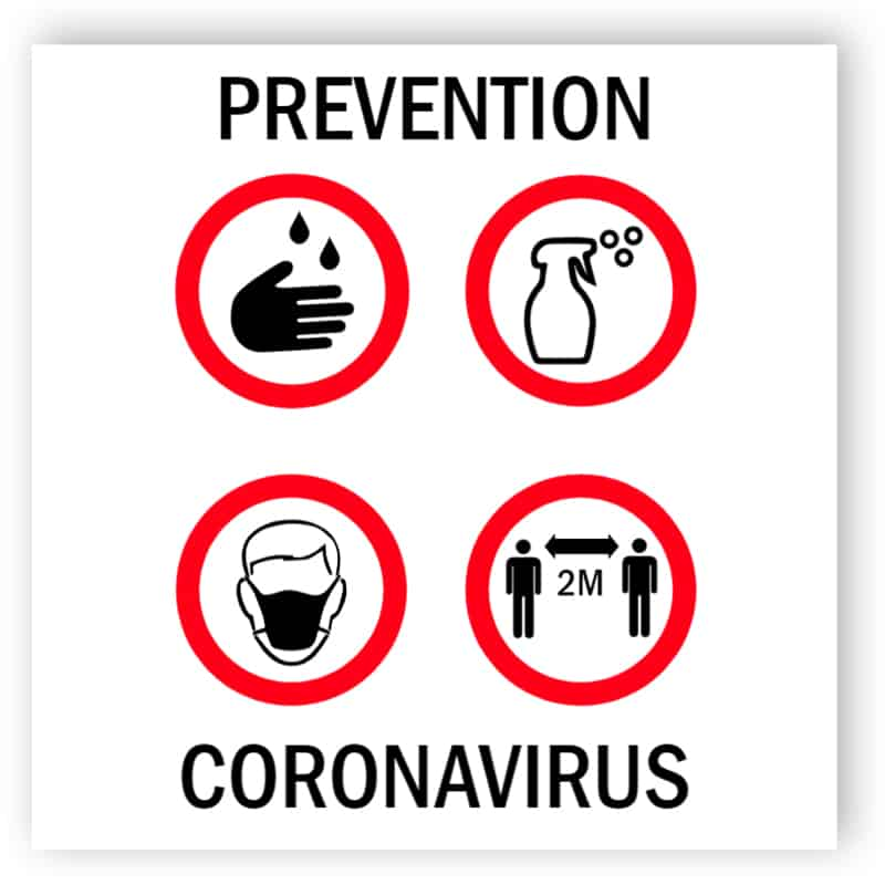 Prevention coronavirus sticker