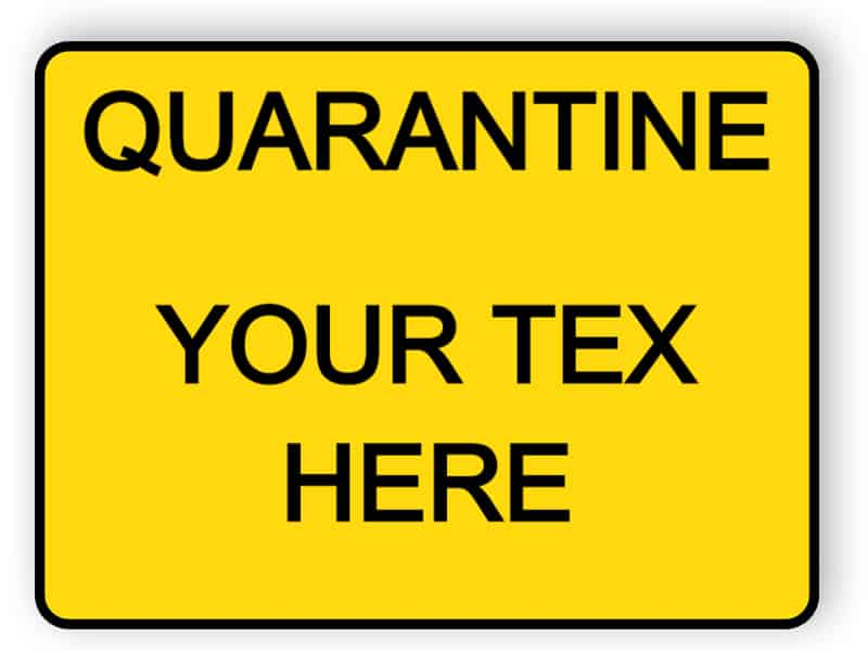 Quarantine - your text here - sticker