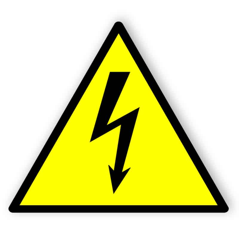 Electrical Hazard - Engraved - With Tape