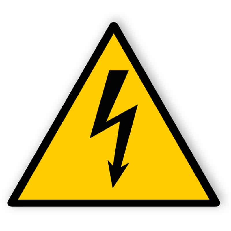 Electrical Hazard - Printed - With Tape
